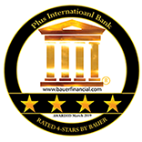 Plus International is rated 4-stars with Bauer Financial