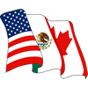 Flags for the United States, Mexico, and Canada